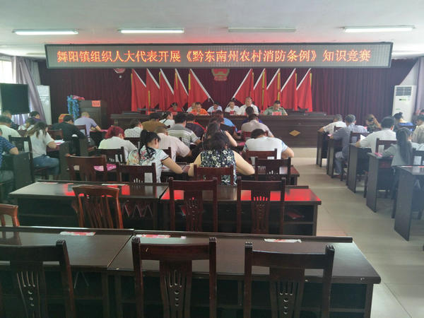 阳镇组织人大代表开展《黔东南苗族侗族自治州农村消防条例》知识竞赛